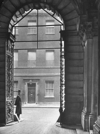 Looking Through Doorway Onto 10 Downing Street, Through Archway Entrance to Foreign Office
