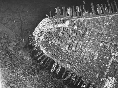 Clear, Sharp, Aerial of New York City Showing the Battery Area