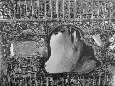 Clear, Sharp, Aerial of New York City Showing the Central Park Reservoir
