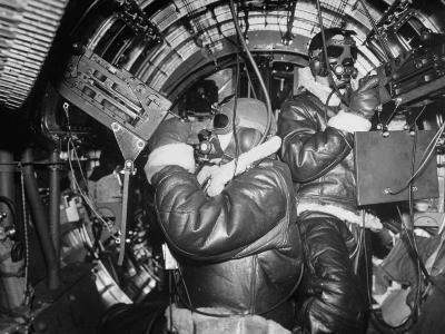 B-17 Flying Fortress Bomber During Bombing Raid Launched by US 8th Bomber Command from England