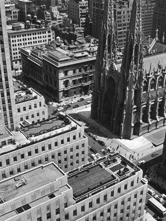 Looking Down on Saint Patrick's Cathedral, New York City