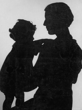 Good Silhouette of a Mother and Child