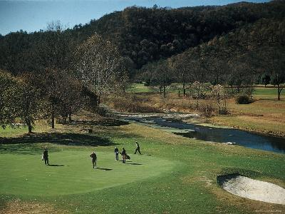 Golfers Playing on the No. 1 White Sulfur Golf Course