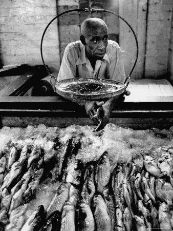 Employee of Fish Stall in the Old City Market