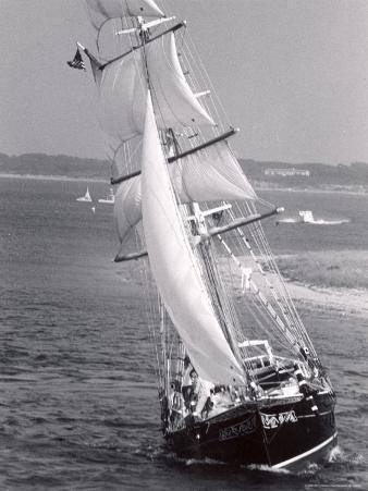 The Black Pearl Sailing Off of Martha's Vineyard