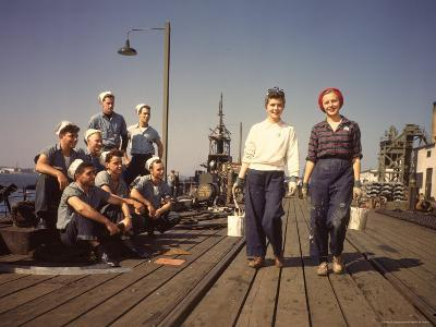 Women Building Submarines at Electric Boat Co, New London, Connecticut