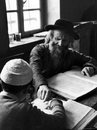 Rabbi Teaching the Talmud, the Basis For Much Jewish Law