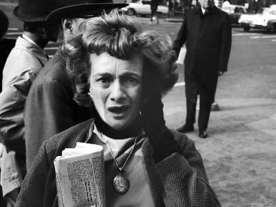 New Yorker Reacting in Shock to News of Assassination of President John F. Kennedy