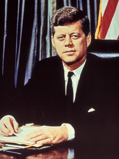"""Portrait of President John F. Kennedy, from the TV Show, """"JFK Assassination as It Happened""""' Photographic Print - Alfred Eisenstaedt 