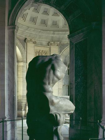 Torso of Belvedere, 1st Century BC Greek Sculpture by Athenian Apollonius in Vatican Museum