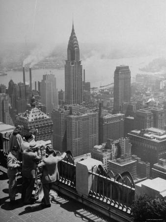 View from Observation Deck at Rockefeller Center Looking Southeast at the Chrysler Building