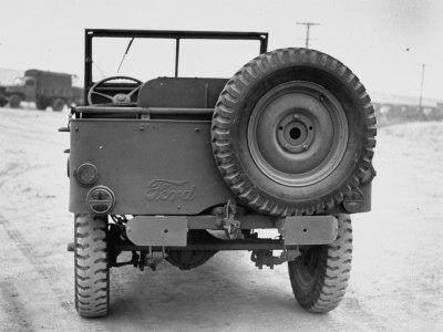 Rear View of Jeep