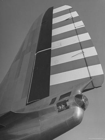 View of the Tail Section of the B-19 Bomber Plane