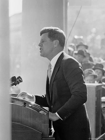 President John F. Kennedy Making Inaugural Address