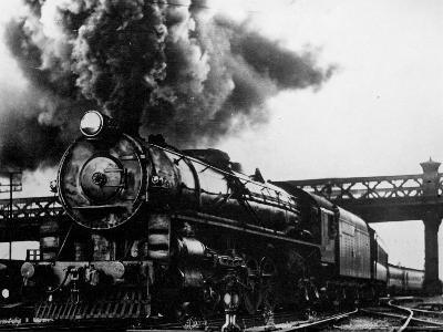 Railroad Steam Engine Billowing Smoke