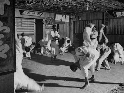 Men Practicing in Judo Class