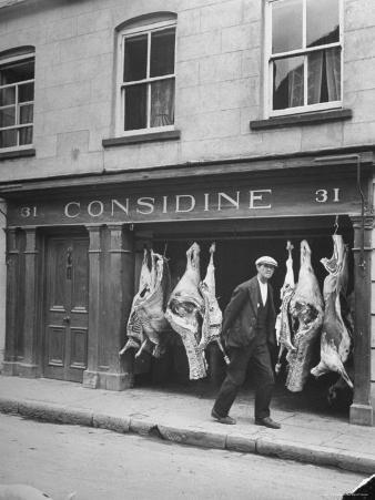 View of a Butcher's Shop in Ennis