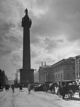 View of Nelson's Pillar in Dublin
