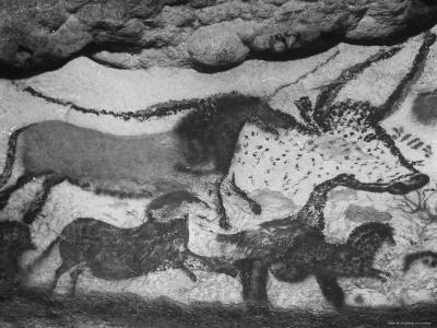 Prehistoric Cave Painting of Animals