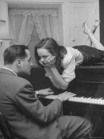 Patricia Kirkland and Tom Beck Acting Out a Famous Hollywood Piano Scene, During Actor's Weekend