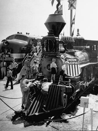 The Union Pacific No. 18 built in 1874 displayed at the Chicago Railroad Fair
