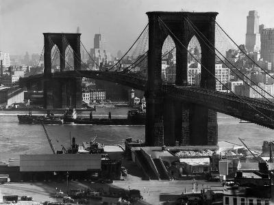 View of the Brooklyn Bridge Looking Toward Brooklyn