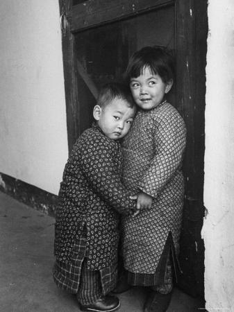 Two Small Chinese Children