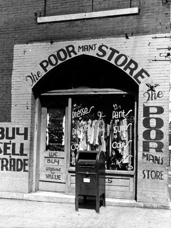 Window of the Poor Man's Store on Beale Street in Memphis