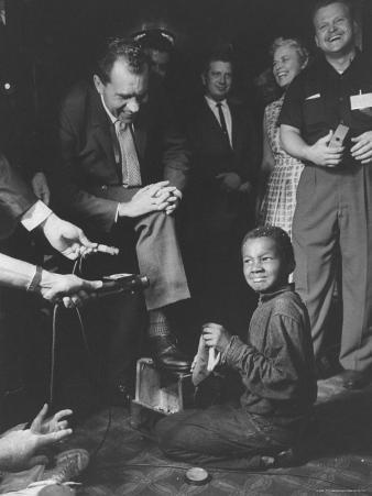 Vice President Richard M. Nixon Getting His Shoes Shined at the GOP Convention