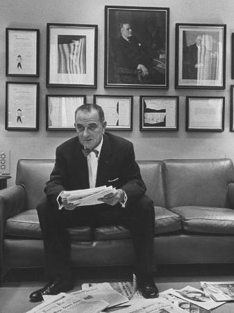 Senator Lyndon B. Johnson at the Time of the Senate Filibuster Concerning Civil Rights