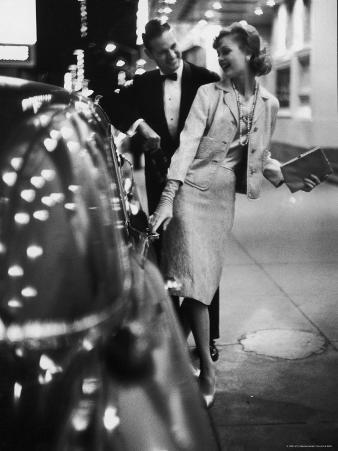 Woman Wearing Daridow Copy of Chanel Evening Suit