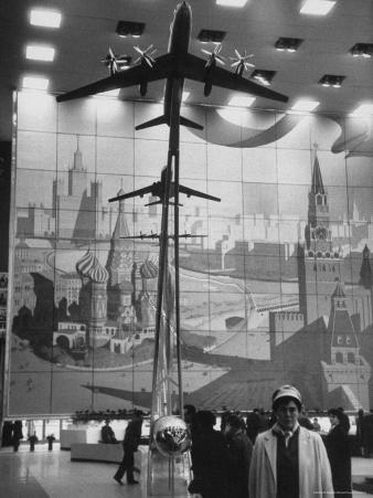 Model of 170 Passenger TU-114, in Soviet Pavilion, Brussels World's Fair