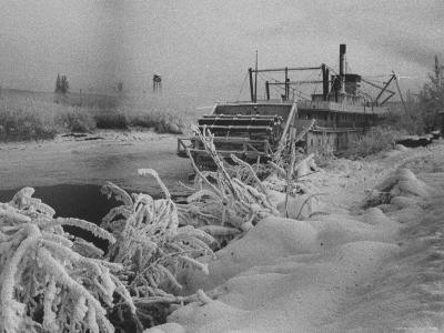 Riverboat and Plenty of Snow in Fairbanks