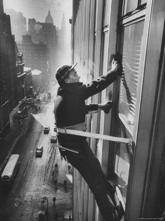 Window Cleaners Cleaning High Rise on Madison Avenue