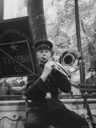 Soviet Military Band Giving Farewell Concert Before Evacuation of Austria
