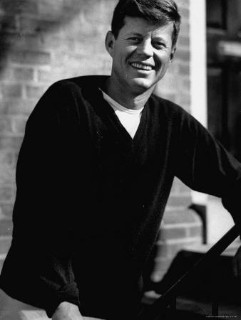 Senator John F. Kennedy, Standing Outside in a Sweater