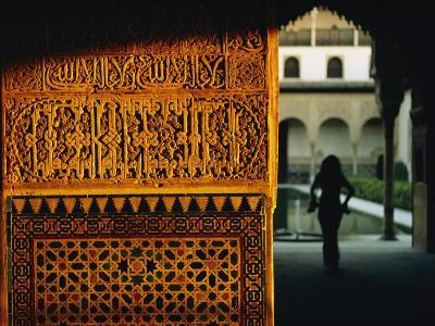A Highly Decorated Wall in the Alhambra