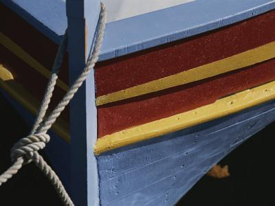 The Brightly Colored Bow of a Boat, Docked at Collioure, France