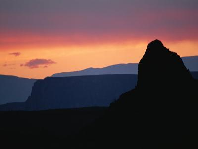 The Chisos Mountains at Sunset