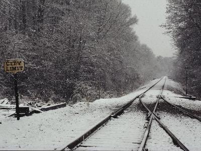 Snow Blanketed Railroad Tracks, Courtland, Virginia