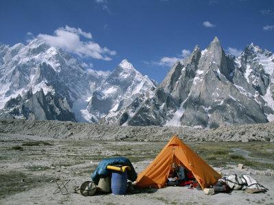 A Camp Set up in Charakusa Valley, Karakoram, Pakistan