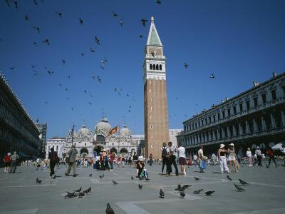 Saint Marks Square and its Famous Pigeons