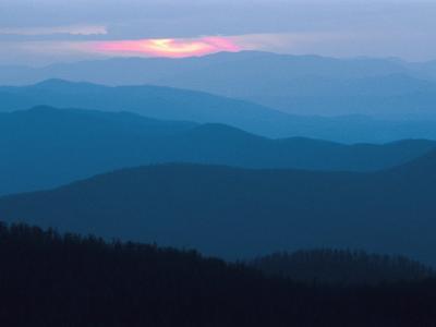 Twilight Covers the Ridges of the Blue Ridge Mountains