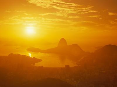 Sunrise over Rio De Janeiro and Sugar Loaf Mountain
