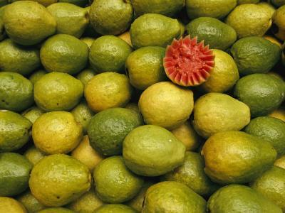 Display of Guavas in an Open Air Market on Copacobana Beach