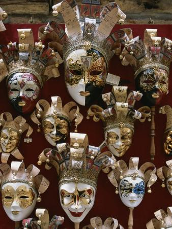 Display of Venetian Masks in a Shop Window
