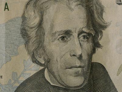 Close up of Andrew Jackson on the Newly-Designed Twenty Dollar Bill