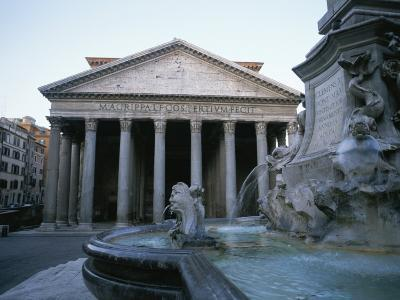 A View of the Pantheon in Rome