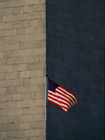 One of the American Flags Surrounding the Monument