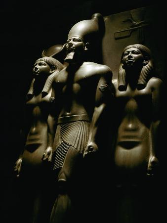 Statue of Pharaoh Menkaura, Found at Giza